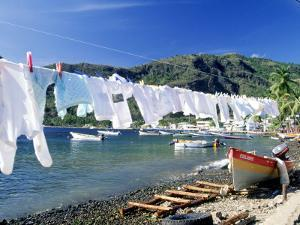Drying Laundry on the Beach, St. Lucia by Angelo Cavalli