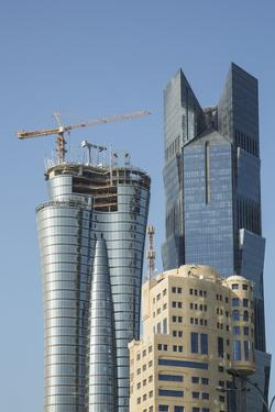Futuristic Skyscrapers Downtown in Doha, Qatar, Middle East by Angelo Cavalli