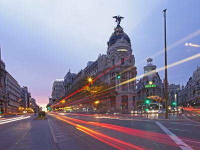 Gran Via and Calle De Alcala, Madrid, Spain, Europe by Angelo Cavalli