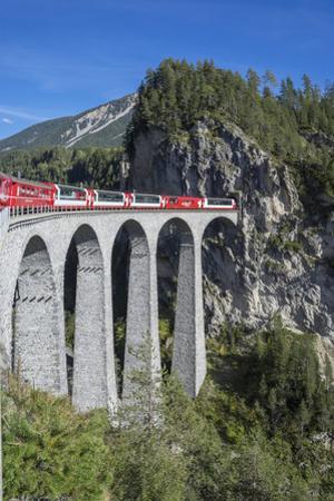 Landwasser Viadukt, Filisur, Graubunden, Swiss Alps, Switzerland, Europe by Angelo Cavalli