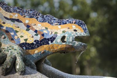 Mosaics, Parc Guell, UNESCO World Heritage Site, Barcelona, Catalonia, Spain, Europe
