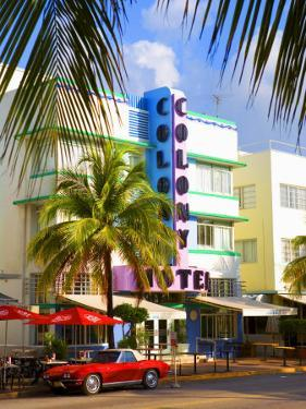 Ocean Drive, South Beach, Miami Beach, Florida, USA by Angelo Cavalli