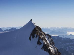 On Punta Gnifetti at 4554 M, Margherita Hut, Monte Rosa, Italian Alps, Piedmont, Italy, Europe by Angelo Cavalli