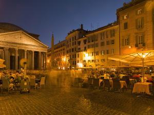 People Dining at Outside Restaurant Near the Pantheon, Rome, Lazio, Italy, Europe by Angelo Cavalli