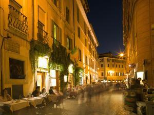 People Dining at Outside Restaurant, Rome, Lazio, Italy, Europe by Angelo Cavalli