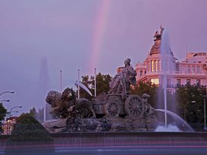 Plaza De Cibeles with Fuente De Cibele at Dusk, Madrid, Spain, Europe by Angelo Cavalli