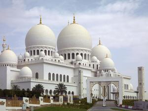 Sheikh Zayed Mosque, Abu Dhabi, United Arab Emirates, Middle East by Angelo Cavalli