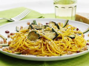 Spaghetti with Zucchini, Italy, Europe by Angelo Cavalli
