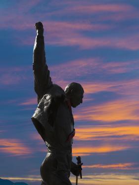Statue of Freddy Mercury, Montreux, Canton Vaud, Switzerland, Europe by Angelo Cavalli