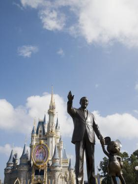 Statue of Walt Disney and Micky Mouse at Disney World, Orlando, Florida, USA by Angelo Cavalli