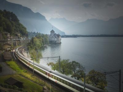 The Castle of Chillon, on Lake Geneva, Montreux, Canton Vaud, Switzerland, Europe