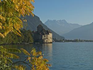 The Castle of Chillon, on Lake Geneva, Montreux, Canton Vaud, Switzerland, Europe by Angelo Cavalli
