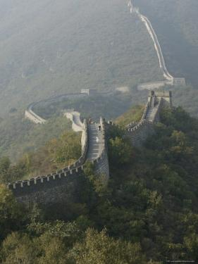 The Great Wall at Mutianyu, Unesco World Heritage Site, Near Beijing, China by Angelo Cavalli