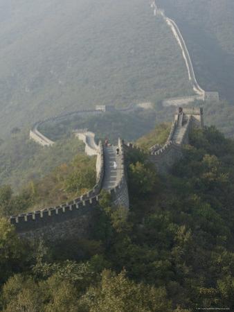 The Great Wall at Mutianyu, Unesco World Heritage Site, Near Beijing, China