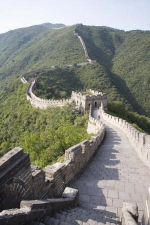 The Great Wall at Mutyanyu, UNESCO World Heritage Site, Near Beijing, China, Asia by Angelo Cavalli