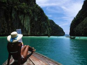 Woman on Boat, Phi Phi Island, Phuket by Angelo Cavalli