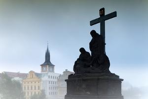 Charles Bridge Statues, Prague, Czech Republic, Europe by Angelo