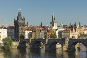 Charles Bridge, UNESCO World Heritage Site, Prague, Czech Republic, Europe by Angelo