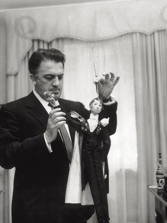 Federico Fellini and the Marionette, Rome 1960