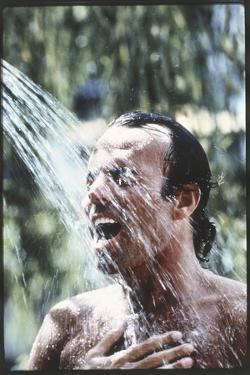 Julio Iglesias Having a Shower by Angelo Cozzi