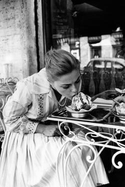 Virna Lisi Eating an Ice-Cream in Rome by Angelo Cozzi