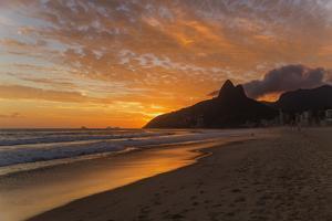Ipanema Beach at Sunset, Rio De Janeiro, Brazil, South America by Angelo