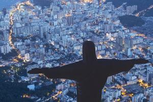 Statue of Christ the Redeemer, Corcovado, Rio De Janeiro, Brazil, South America by Angelo