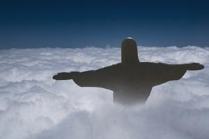 Statue of Christ the Redeemer Rising Above the Clouds by Angelo