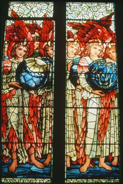 Angels of Creation: the Third and Fourth Days by Sir Edward Burne-Jones (1833-98)