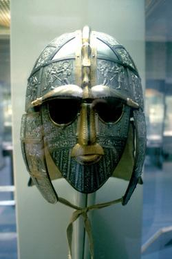Anglo-Saxon Helmet and Mask from the Sutton Hoo Treasure, 7th Century