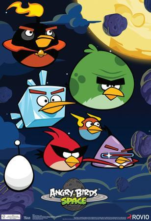 Angry Birds Space Video Game Poster