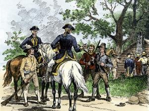 Angry Citizens Capturing Tax Collectors during the Whiskey Rebellion