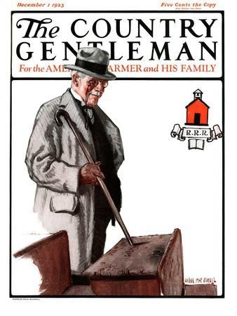 """""""Back to School,"""" Country Gentleman Cover, December 1, 1923"""