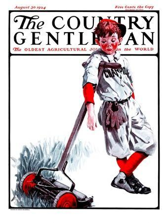 """""""Cut Grass or Play Baseball?,"""" Country Gentleman Cover, August 30, 1924"""