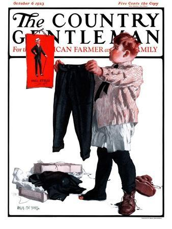 """""""First Pair of Long Pants,"""" Country Gentleman Cover, October 6, 1923"""