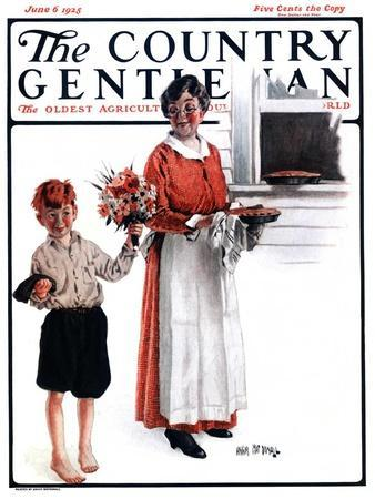 """""""Flowers for Pie,"""" Country Gentleman Cover, June 6, 1925"""