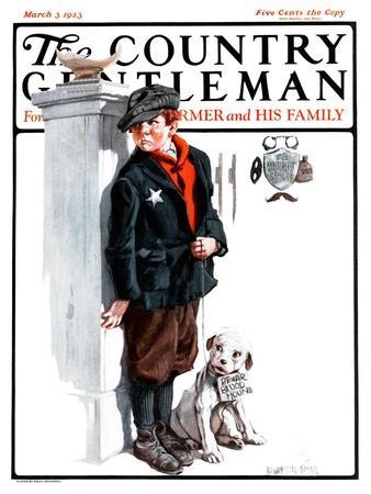 """""""Playing Detective,"""" Country Gentleman Cover, March 3, 1923"""