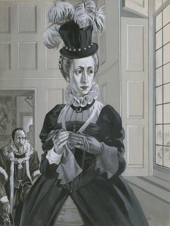 Queen Elizabeth I, Hearing News of the Execution of Mary Queen of Scots