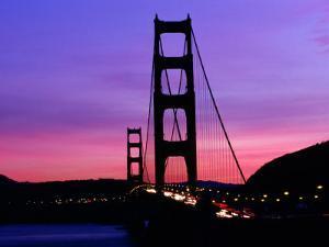 Golden Gate Bridge at Sunset, San Francisco, California, USA by Angus Oborn