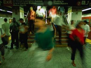Platform Crowd at Grand Central Terminal, New York City, New York, USA by Angus Oborn