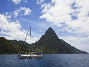 The Pitons on Southwestern Coast by Angus Oborn