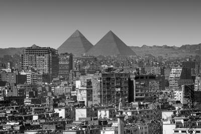 Cityscape of Cairo, Pyramids, Egypt by Anik Messier