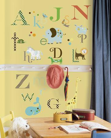 Animal Alphabet Peel U0026 Stick Wall Decals