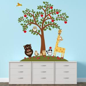 Animal Friends And Apple Tree