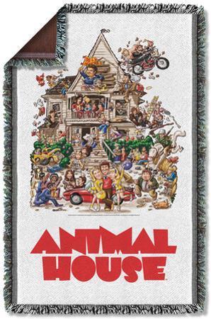 Animal House - Poster Woven Throw