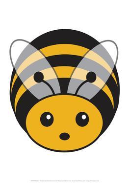 Bee - Animaru Cartoon Animal Print by Animaru