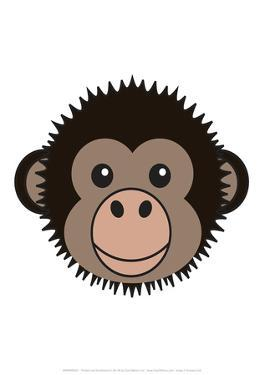 Chimp - Animaru Cartoon Animal Print by Animaru