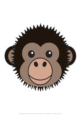 Chimp - Animaru Cartoon Animal Print by Animaru