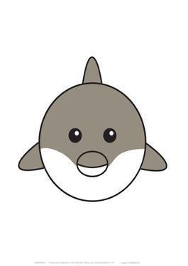 Dolphin - Animaru Cartoon Animal Print by Animaru
