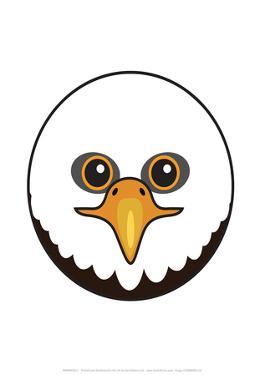 Eagle - Animaru Cartoon Animal Print by Animaru